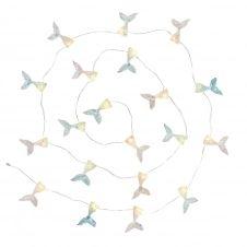 Guirlande lumineuse 20 LED sirènes roses et bleues L220