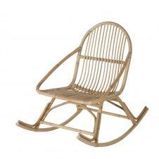 Rocking chair en rotin Lila