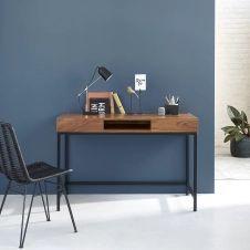 Bureau en bois de teck et métal 120 LINA