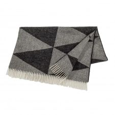 Plaid en laine Rime Charcoal