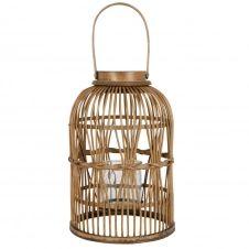 Lanterne en bambou tressé marron H43