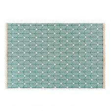 Tapis en coton vert motifs graphiques 140×200