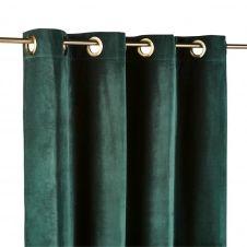 Rideau à illets en velours vert émeraude 140×300