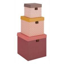 Boite carton Set de 3 Boites EVASION multicolor