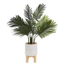 Plante artificielle H72 cm PALMIER Blanc / Vert