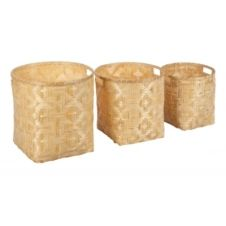Paniers set de 3 MONG naturel