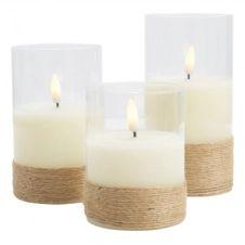 Lot de 3 bougies cire LED  blanc