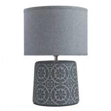 lampe pied relief H. 34 cm GIOVANNI gris