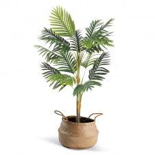 Palmier artificiel hauteur 115 cm plante avec pot