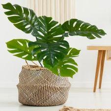Plante monstera artificielle avec pot 70 cm
