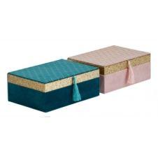 Boîte a bijoux JASMINE vert ou rose