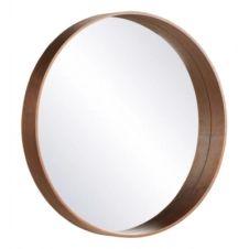 Miroir D.70 cm UPSALA Bois foncé