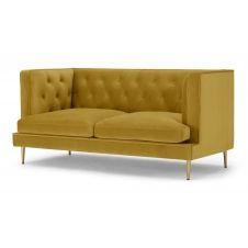 Goswell, canapé 2 places, velours doré vintage