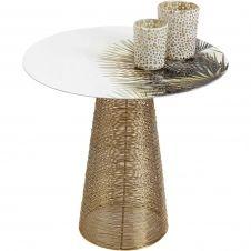 Table d'appoint Charme palmiers 40cm Kare Design