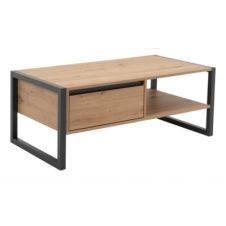 Table basse HOUSTON Imitation chêne et gris