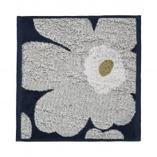 Serviette Unikko bleu marine-gris clair 30×30 cm