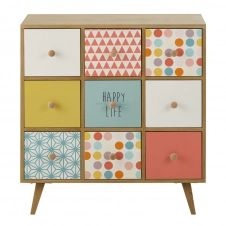 Cabinet en bois multicolore L 78 cm Alix
