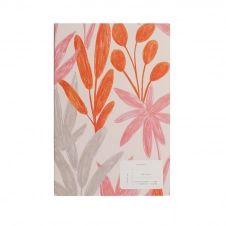 Journal imprimé feuilles roses