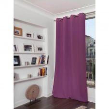 Rideau phonique thermique occultant violet 140×260