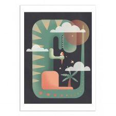 T-REXY – DARY MALTSEVA –  Affiche d'art 50 x 70 cm