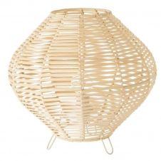 Lampe de table arrondie en rotin D30cm