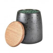 Pot avec couvercle Bitz 16,5 cm Noir-vert