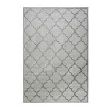 Tapis outdoor gris motif oriental bleu pour entrée, extérieur 80×150