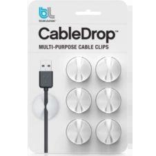 Range câble Bluelounge CableDrop mini blanc Pack de 9