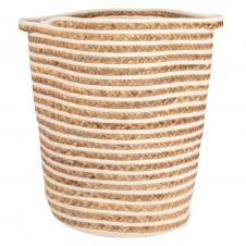 Panier à linge en fibre végétale tressée