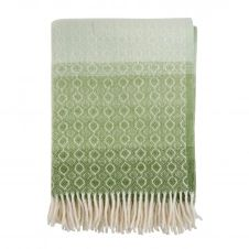 Plaid de laine Havanna Green multi
