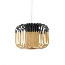 Suspension bambou noir D27cm H20cm