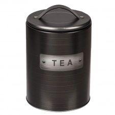 Boite à thé cylindrique métallique
