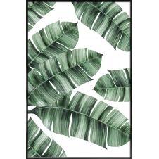 Affiche avec cadre standard (Noir) en Blanc & Vert/30×45