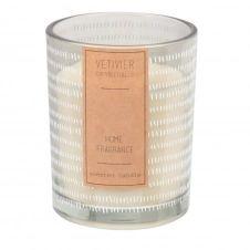 Bougie parfumée en verre à motifs
