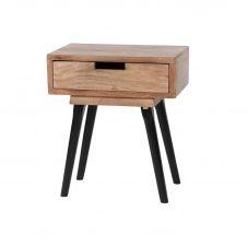 Table de chevet 1 tiroir en manguier PENJA