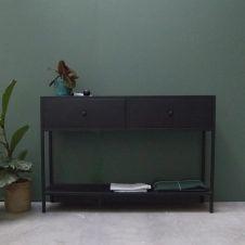 Console en métal noir 2 tiroirs Nossa decoclico Factory