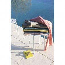 Drap de plage et fouta en 100% coton gris 90×180