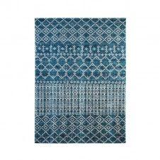 Tapis pour intérieur-extérieur motifs berbères bleu 120×170