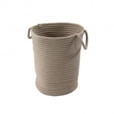Panier en coton effet cordage taupe 45x30x40