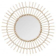 Miroir rond en bambou D55