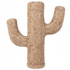 Statue cactus en fibre végétale H55