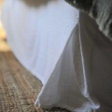 Cache sommier gaze de coton blanc 160X200X32 CM