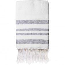 Fouta en coton 100×200 Blanc et argent