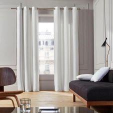 Rideau à oeillets 145×277 cm Blanc