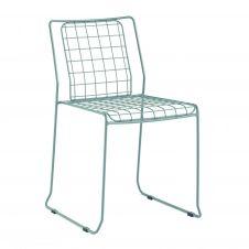 Chaise en acier beige