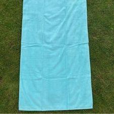 Drap de plage et fouta en 100% coton bleu 90×160