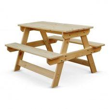 Table de pique nique pour enfants en pin naturel
