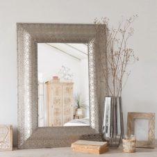 Miroir en métal à motifs 59×79
