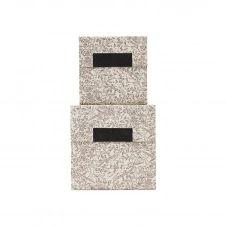 Boîtes de rangement en carton marron