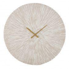 Horloge sculptée blanchie D86